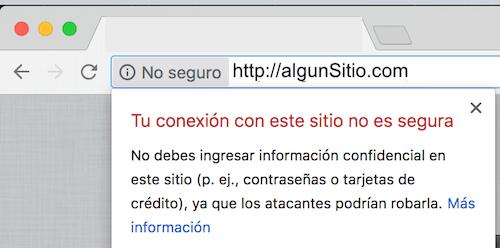 Chrome Sitio No seguro