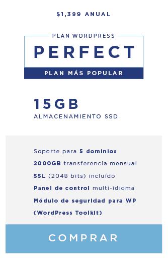 Hospedalia. Wordpress Hosting Perfect